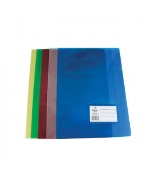 Pasta Plastico Liso c/ Bolsa e Visor A4, pack c/ 10 un.