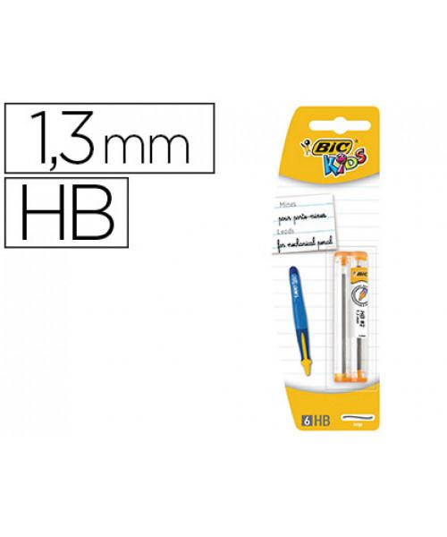 Minas bic kids  grafite hb 1,3 mm blister de 2 tubos com 6 minas.