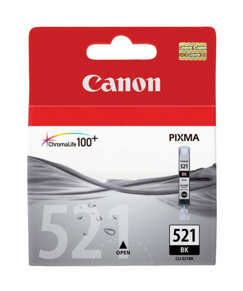 Tinteiro Canon CLI-521 BK ,Preto