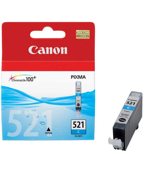 Tinteiro Canon CLI-521 Azul