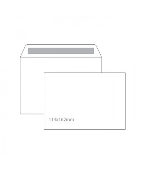Envelopes branco  autocolante 114 x 162