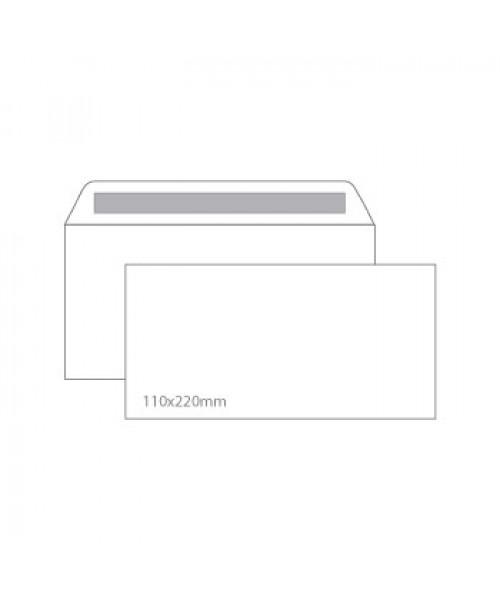 Envelope branco autocolante 110 x 220