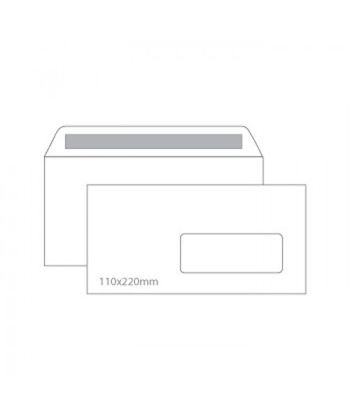 Envelope branco c/janela   110 x 220