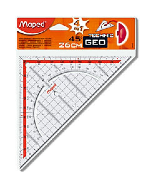 Esquadro Mapad -   45º 26cms c/ pega